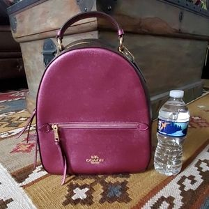 COACH Signature Brown Metallic Berry Backpack